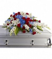 Loyal Service Member Casket spray