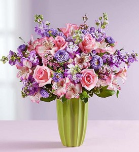 M Fresh Country Bouquet In Art Deco Style Vase
