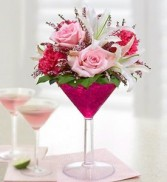 Martini Bouquet™ Cosmo by 1800 Flowers