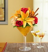 Martini Bouquet Pumpking Spice by 1800 Flowers