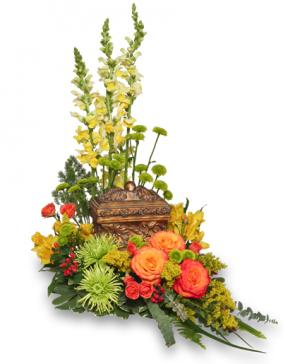 Meaningful Memorial  Cremation Arrangement  (urn not included)  in Burlington, CT | THE HARWINTON FLORIST