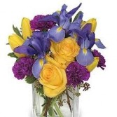 JB 7-Mixed Flowers in a compact arrangement (Flowers and colors may vary)