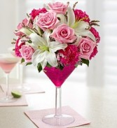 Mommy's Time Out Martini Flower Arrangment