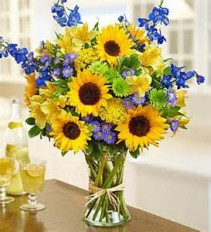 Mom's Sunny Disposition Vase