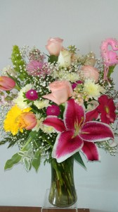 Mothers Day Special No 2 Roses, Lilies, Tulips