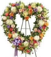 MULTICOLOR SYMPATHY  STANDING OPEN HEART in Clarksburg, MD | GENE'S FLORIST & GIFT BASKETS 