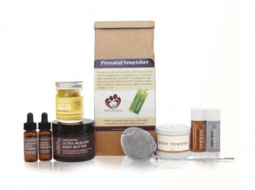 Naturally Beautiful Pregnancy Gift Box From Ora's Amazing Herbal