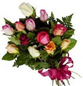 PRESENTATION  BOUQUET  One Dozen Long Stem Mixed Roses