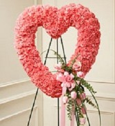 Open Heart  Standing Arrangment  in Bowerston, OH | LADY OF THE LAKE FLORAL & GIFTS