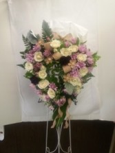 Open Heart with Burlap Funeral Flowers