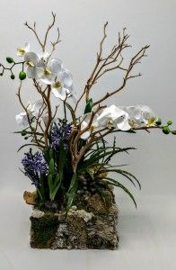Orchid And Hyacinth Plant Interior Decor
