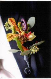 Orchid and MonkeyTail Boutonniere in Naperville, IL | DLN FLORAL CREATIONS