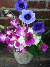 Orchid & Anemones
