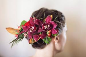 Orchid Hair Clip Prom or Wedding Hair Piece in Colts Neck, NJ | GREENHOUSE GALLERY