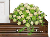 OVERFLOWING AFFECTION Casket Spray in Jonesboro, AR | HEATHER'S WAY FLOWERS & PLANTS