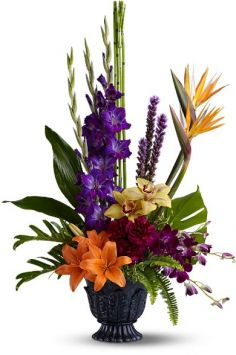 Paradise Blooms Floral Arrangement in Lauderhill, FL | A ROYAL BLOOM FLOWERS & GIFTS