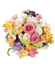 Pastel Mix Wedding Bridal Bouquet