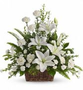 Peaceful White Lilies Funeral