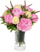 PERFECT ROSES &PEONIES BOUQUET in Clarksburg, MD | GENE'S FLORIST & GIFT BASKETS
