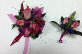 PINK AND PURPLE COMBO PROM MIX PROM FLOWERS