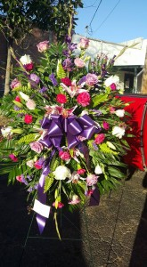 Pink and purple spray Funeral