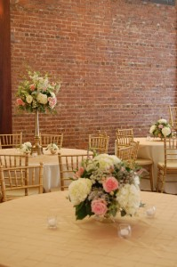 Pink and White Centerpeices Reception Decor