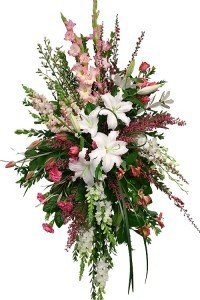 Pink and White Elegance Easel Spray