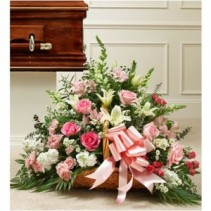 Pink and White Mixed Fireside Basket