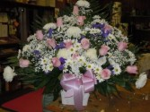 Pink and White (TB 17) Funeral Basket