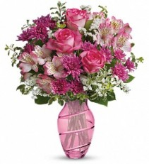 Pink Bliss vase arrangement