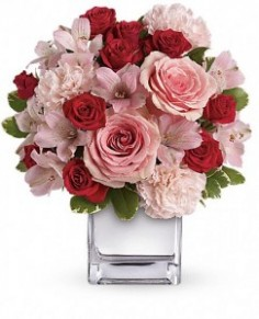 Pink Bouquet with Roses Roses in Ventura, CA | Mom And Pop Flower Shop