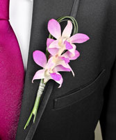CHIC PINK ORCHID Prom Boutonniere in New York, NY | TOWN & COUNTRY FLORIST/ 1HOURFLOWERS.COM