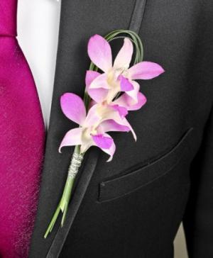 CHIC PINK ORCHID  Prom Boutonniere in Fair Lawn, NJ | DIETCH'S FLORIST