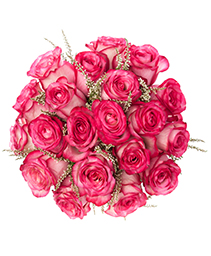Pink Passion Rose Bridal Bouquet