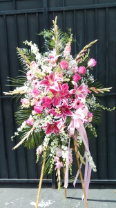 Pink Passion Funeral Flowers