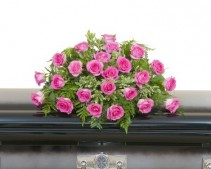 Pink Rose Casket Spray - As Shown (Deluxe) Spray