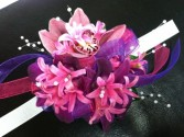 Pink Song wrist corsage