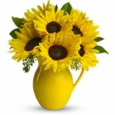 Pitcher of Sunflowers Floral Bouquet