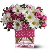 Plenty of polka dots! in Largo, FL | ROSE GARDEN FLOWERS & GIFTS INC.