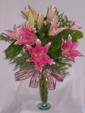 PLUSH PINK LILLIES   Florists, Flowers Prince George BC