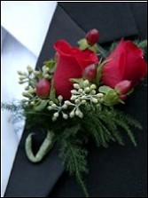 RED ROSES Prom Boutonniere in East Hampton, CT | ESPECIALLY FOR YOU
