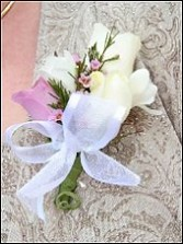 WHITE & LAVENDER ROSES Prom Corsage in East Hampton, CT | ESPECIALLY FOR YOU