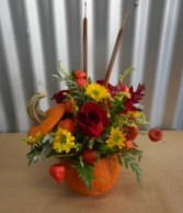Pumpkin Flower Arrangement Pumpkin Flower Arrangement
