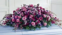 PURPLE CASKET COVER SYMPATHY ARRANGEMENT
