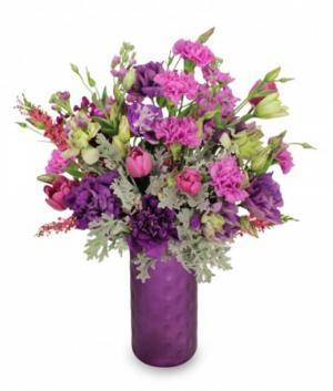 Celestial Purple  Arrangement in Crete, NE | ABLOOM