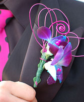 Purple Orchid Boutonniere Prom Flowers in Bracebridge, ON | CR Flowers & Gifts ~ A Bracebridge Florist