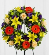 Radiant Remembrance™ Wreath Symphaty flowers