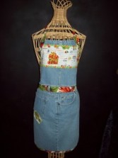 Recycled Jean Apron