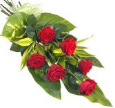 6 CLASSIC RED ROSES GIFT WRAP BOUQUET in Rockville, MD | ROCKVILLE FLORIST & GIFT BASKETS