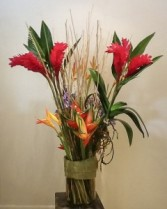 Tropical Red Ginger & Heliconia va-118